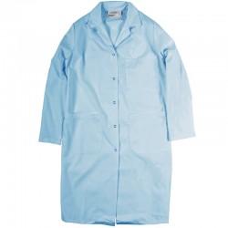 Sarrau pour femme boutons pression bleu pâle