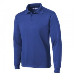 Chemise sport bleu royal manches longues anti-accrocs