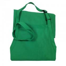 Tablier casse-croûte Vert Kelly avec bavette
