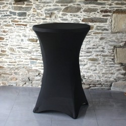 Housse noire Table Cocktail 24''