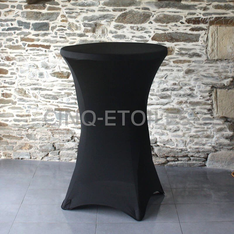Housse noire table cocktail de 36''