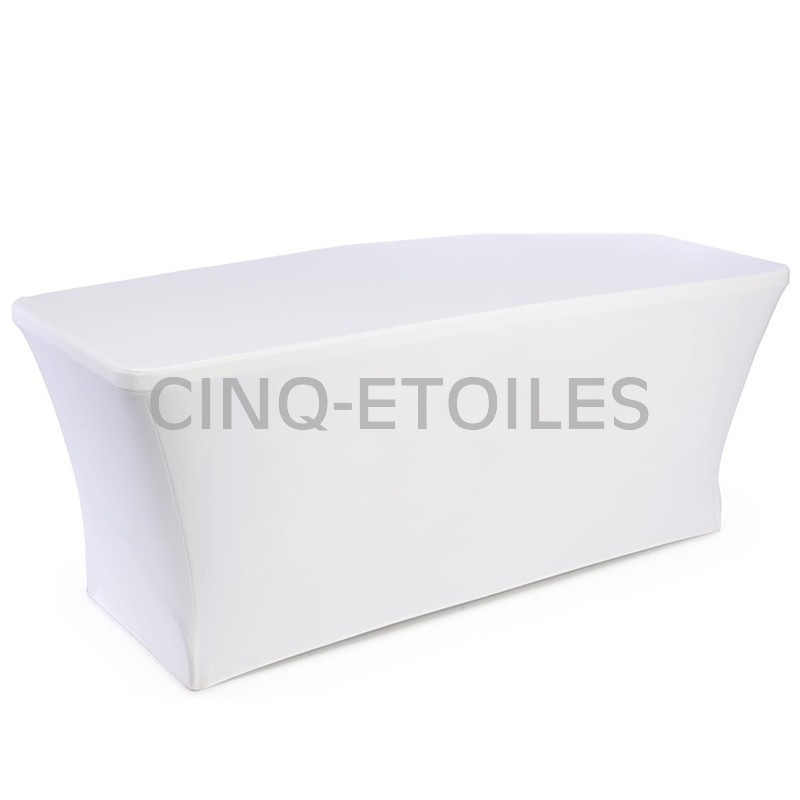 Housse table blanche 8' Spandex