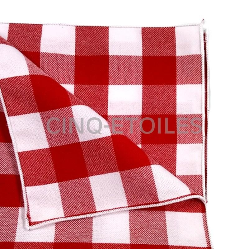 72 serviettes 21x21 à carreaux