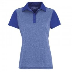 Polo Femme ProFormance Chiné 2 couleurs bleu royal