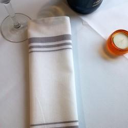 Serviette table en coton style bistro