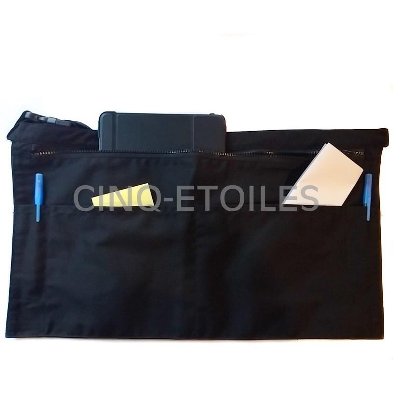 Tablier serveuse noir 3 poches