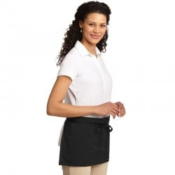 Tablier pour serveuse noir en coton