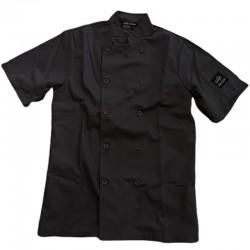 Veste chef cuisinier manches courtes noire