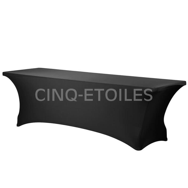 Housse table noire 8' Spandex
