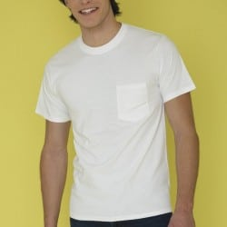 T-shirt Blanc Homme Everyday une poche poitrine