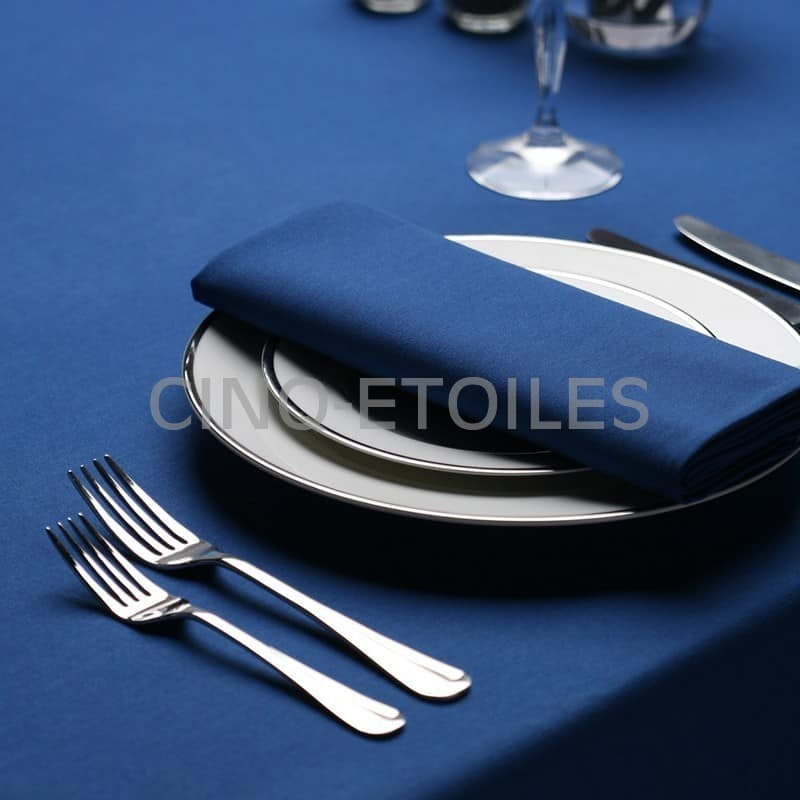 Nappe 54x54 signature plus bleu royal