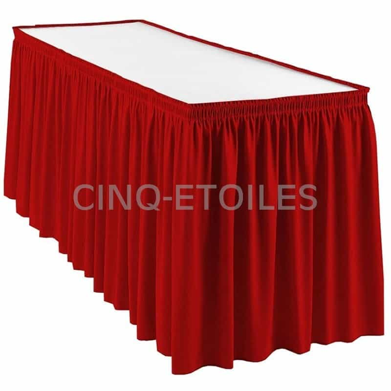 Jupe de table couleurs plis froncé