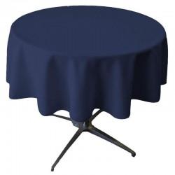 Nappe ronde bleu marine 54 pouces