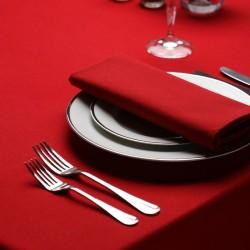 Serviette signature couleur rouge