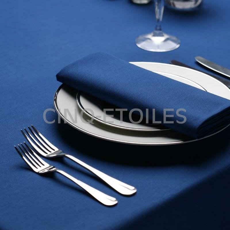 Serviette signature couleur bleu royal