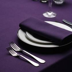 Serviette signature couleur violet