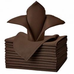 Serviette signature couleur chocolat