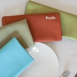 Serviette signature couleur rouille