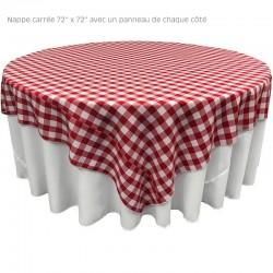 Nappe à Carreaux 72 x 72 pour restaurant