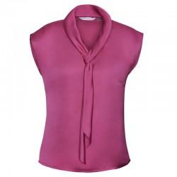 Chemise foulard pour femme rose
