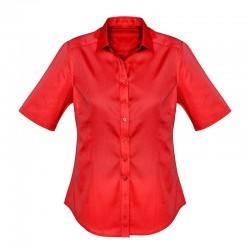 Chemise dalton anti-taches pour femme rouge