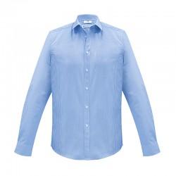 Chemise Homme Euro manches longues bleu