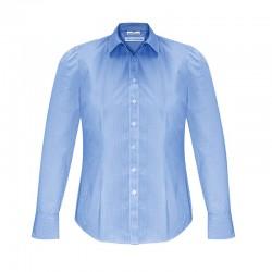 Chemise Femme Euro Manches longues bleu