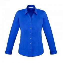 Chemise Femme Monaco Manches longues bleu électrique