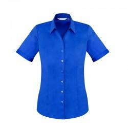 Chemise Femme Monaco Manches courtes bleu électrique