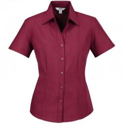 Chemise Femme Oasis manches courtes cerise