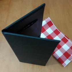 Vue d'angle porte-facture noir
