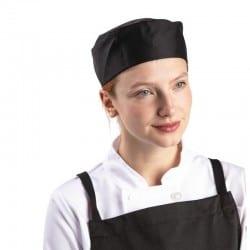 Calot pour cuisinier noir avec trous d'aération
