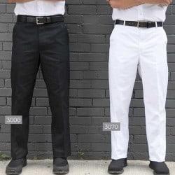 Pantalon de cuisinier noir Classique