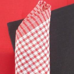 Serviette Table gaufrée carreaux Rouges