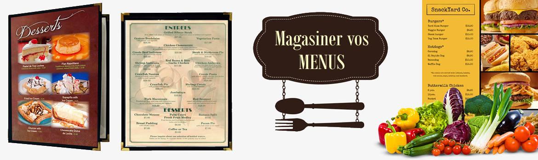 protège menu pour restaurant