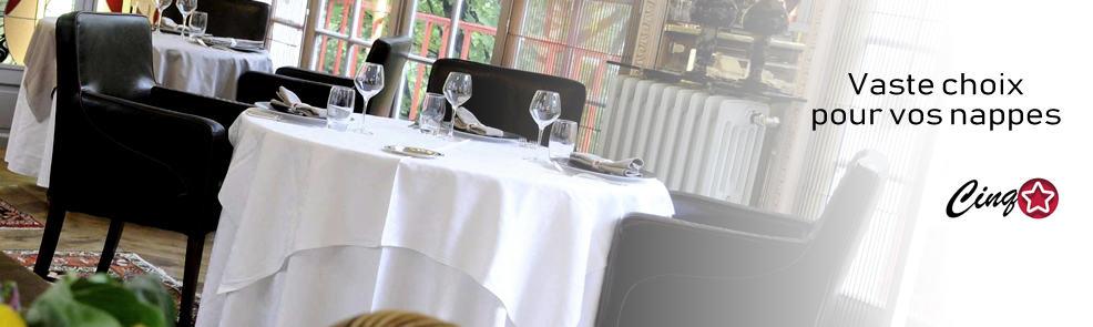 Nappe pour restaurant cinq-étoiles